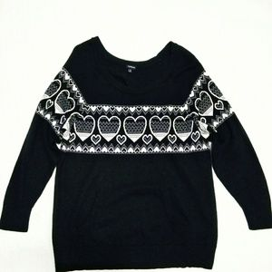 Torrid Sweater Love and Hearts